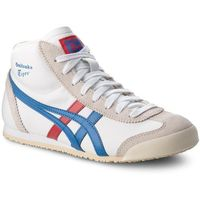 Sneakersy ASICS - ONITSUKA TIGER Mexico Mid Runner DL409 White/Daphne 0143, kolor biały