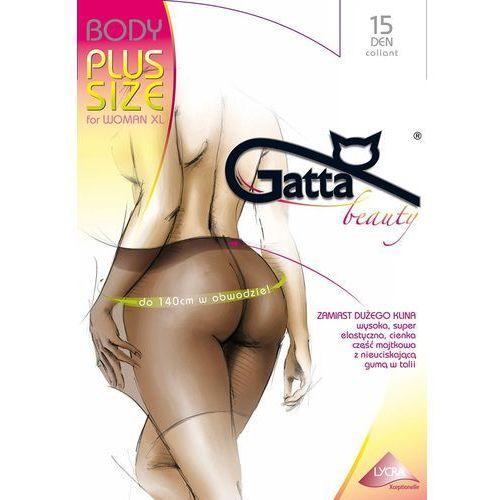 Rajstopy body plus size 15 den for woman xl 2-s, czarny/nero, gatta marki Gatta