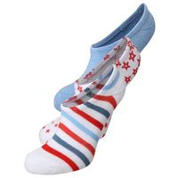 Converse AMERICANA EMBROIDERY 3 PACK Skarpety white/multi/chambray, poliester