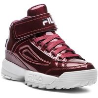 Sneakersy - d2 m disruptor mid wmn 1010446.40k marsala marki Fila