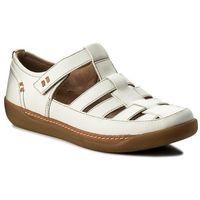 Sandały CLARKS - Un Haven Cove 261332824 White Leather, w 7 rozmiarach
