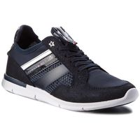 Sneakersy - metallic light weight sneaker fw0fw02996 midnight 403, Tommy hilfiger