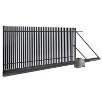Brama przesuwna z automatem Polbram Steel Group Daria 2 400 x 150 cm lewa