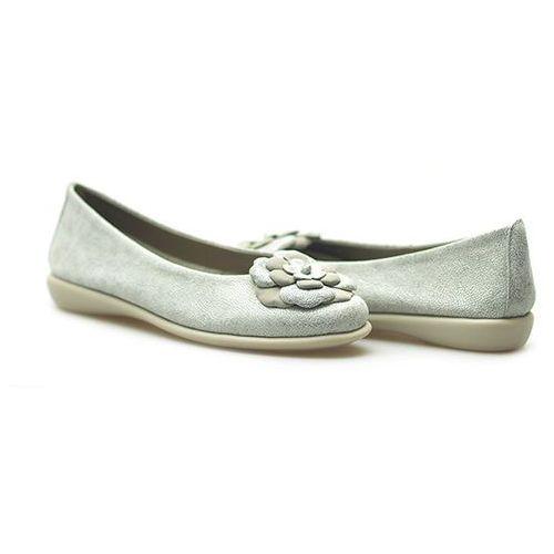 Flexx Baleriny a103/19 srebrne/silver lico