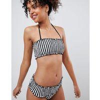 Monki Rouched Stripe Bandau Bikini Brief - Multi, bikini