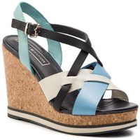 Sandały - interwoven pattern wedge sandal fw0fw04105 aqua haze 447 marki Tommy hilfiger