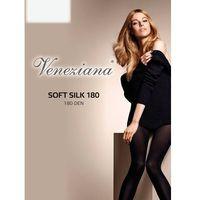 Rajstopy Veneziana Soft Silk 180 den 3-M, czarny/nero. Veneziana, 2-S, 3-M, 4-L, jedwab