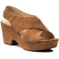 Sandały CLARKS - Maritsa Lara 261317774 Tan Suede, w 8 rozmiarach