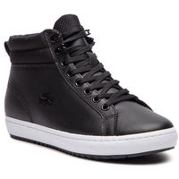 Lacoste Sneakersy - straightset insulatec 3181 caw 7-36caw0044312 blk/wht