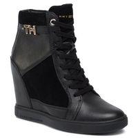 Sneakersy - hardware sneaker wedge fw0fw04303 black 990, Tommy hilfiger, 36-42