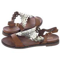 Sandały Sergio Leone Brązowe SK011 (SL297-a)
