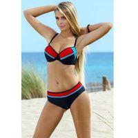 Kostium Dwuczęściowy Model Benita Black/Red/Blue