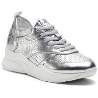 Sneakersy LIU JO - Karlie 14 B19009 P0291 Silver 00532, kolor szary