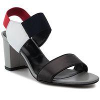 Sandały SAGAN - 3225 Czerwono Czarno Biały