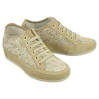 IGI&CO 11594 22 scamosciato/pizzo beige, półbuty (sneakersy) damskie - Beżowy