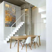 Ekskluzywne bardzo duże obrazy do salonu lub sypialni - złoto i niebieski marki Pracownia art.&texture