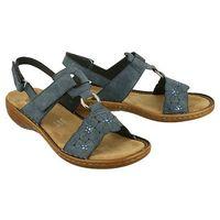 RIEKER 60843-14 blue, sandały damskie