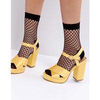 oversized fishnet ankle socks with re-enforced heel - black, Asos