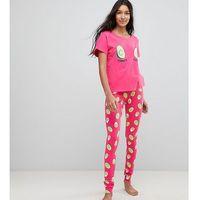 avocado and egg power couple tee and legging pyjama set - multi, Asos tall