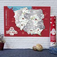 Mygiftdna Mapa zdrapka travel map™ polska - mapa zdrapka travel map™ polska