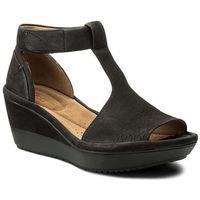 Sandały CLARKS - Wynnmere Avah 261325404 Black Nubuck, kolor czarny