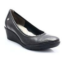 10056 czarny - wygodne buty damskie na lekkiej koturnie marki Lemar
