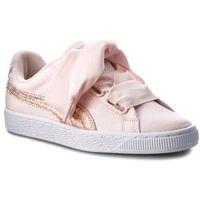 Sneakersy PUMA - Basket Heart Canvas 366495 02 Pearl/Puma White/Rose Gold, w 2 rozmiarach
