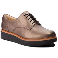 Oxfordy CLARKS - Teadale Rhela 261296114 Pewter Leather