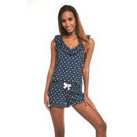 Bawełniana piżama damska Cornette 376/187 Jenny 3 granatowa, kolor niebieski