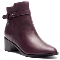 Clarks Botki - poise freya 261360044 aubergine leather
