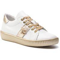 R.polański Sneakersy - 0961 biały lico/złoty