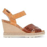 Skórzane sandały na koturnie bali, Pikolinos