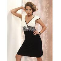 Koszula Nocna Model Andrea Black/Cream, kolor czarny