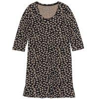 Bonprix Koszula nocna czarno-brunatny wzorzysty