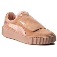 Puma Sneakersy - platform strap satin ep wn's 366009 01 peach beige/peach beige/rose
