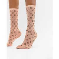 Custommade Signature C Ankle Socks in Metallic - Copper