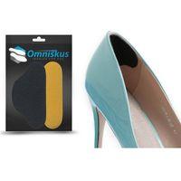 Czarne skórzane zapiętki do butów naprawcze para - r023_c marki Omniskus