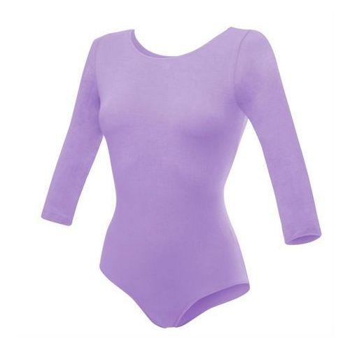 Body gimnastyczne z rękawem 3/4 b10034 wrzosowe - wrzosowy marki Rennwear
