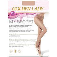 Rajstopy my secret 20 den rozmiar: 3-m, kolor: beżowy/melon, golden lady marki Golden lady