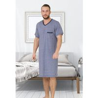 Koszula baltazar 609 kr/r m-2xl rozmiar: m, kolor: szary melange, m-max marki M-max