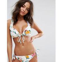 floral ruffle racer back bikini top - multi marki Vero moda