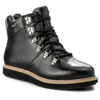 Clarks Botki - glickasha gtx gore-tex 261296524 black leather