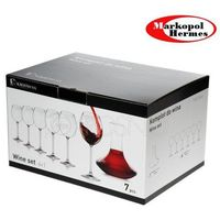 Huta krosno Venezia-kpl 7 krafka+6 kieliszków wino cz. fkp0487000001000 (5900345439426)