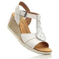 Sandały, tęgość g biało-srebrny marki Bonprix