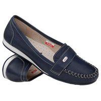 Mokasyny wsuwane buty AXEL Comfort 1513 Navy - Granatowy