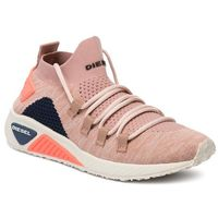 Diesel Sneakersy - s-kb athl lace w y01999 p2215 h7476 cafe creme/cream tan
