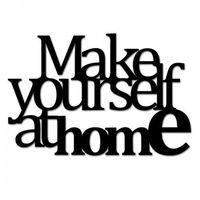 Napis na ścianę make yourself at home2 czarny myah2-1 marki Dekosign