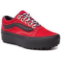 Sneakersy VANS - Old Skool Lug Pla VN0A3WLXVRX1 (90s Retro) Chili Pepper, kolor czerwony