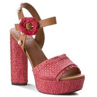 Espadryle GUESS - Micaela FLMIC2 FAB05 RED, kolor czerwony
