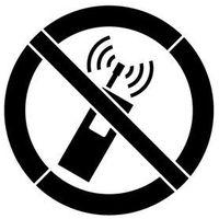 Szablon malarski z tworzywa znak zakazu używania tel. komórkowych gp013 - 85x85 cm marki Szabloneria